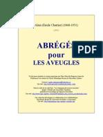 Alain [Emile Chartier] - Abreges Pour Les Aveugles [1942]