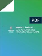 Los Actores Del Proceso Electoral