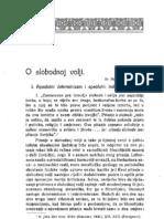 Stjepan Zimmermann - O slobodnoj volji I. dio