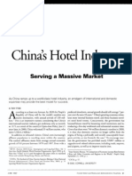 China Hotel Industry