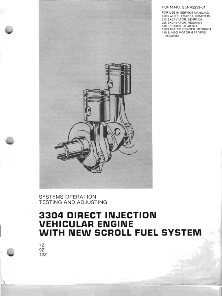 Motor 3304 Inyeccion Directa - Scroll Fuel System | Internal