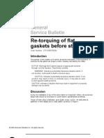 Trane Re-torquing of Flat Gaskets Before Startup