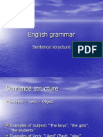 Sentence Structure - English Grammar