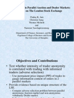 Informed Trading in Parallel Auction and Dealer Markets the Case of the London Stock Exchange