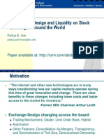 Institutional Design and Liquidity at Stock Exchanges Around the World