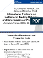 International Evidence on Institutional Trading Behavior and Determinants of Price Impact by Chiyachantana Et Al. (2004 JF)