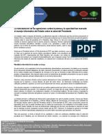 Informe IPYS Venezuela caso Chávez