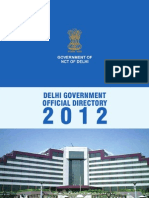 Delhi Government Telephone Directory 2012