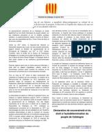 Déclaration de souveraineté et du droit à l'autodetermination du peuple de Catalogne du 23-01-2013-vFR