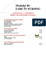 Suport Curs - Cercetare in Nursing (Anul III, Competenta 3, Cu Sublienieri) 15 Pag
