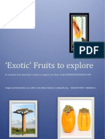 Ebook on Unique yet Exotic Fruits around the world for Chefs