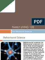 The Behavioral Sciences