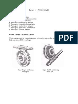 worm gear pdf | Gear | Mechanics
