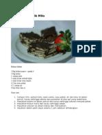 resepi kek batik milo