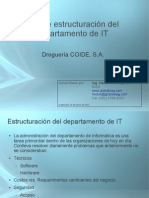 Estructuración de un departamento de IT
