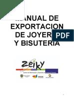 Manual de Exportacion de Joyeria