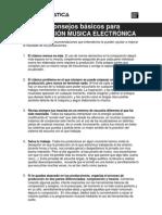 10 Consejos Basicos Produccion Musica Electronica
