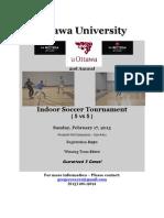 Indoor Soccer Tournament Package