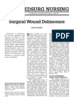 Surgical Wound Dehiscence