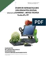 Plan de Estudios de Informatica 2013 Tecnica Ok
