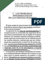 Los problemas epistemológicos de las ciencias humanas op