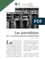 Las paradojas de la transición constitucional