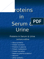 Proteins in Serum & Urine