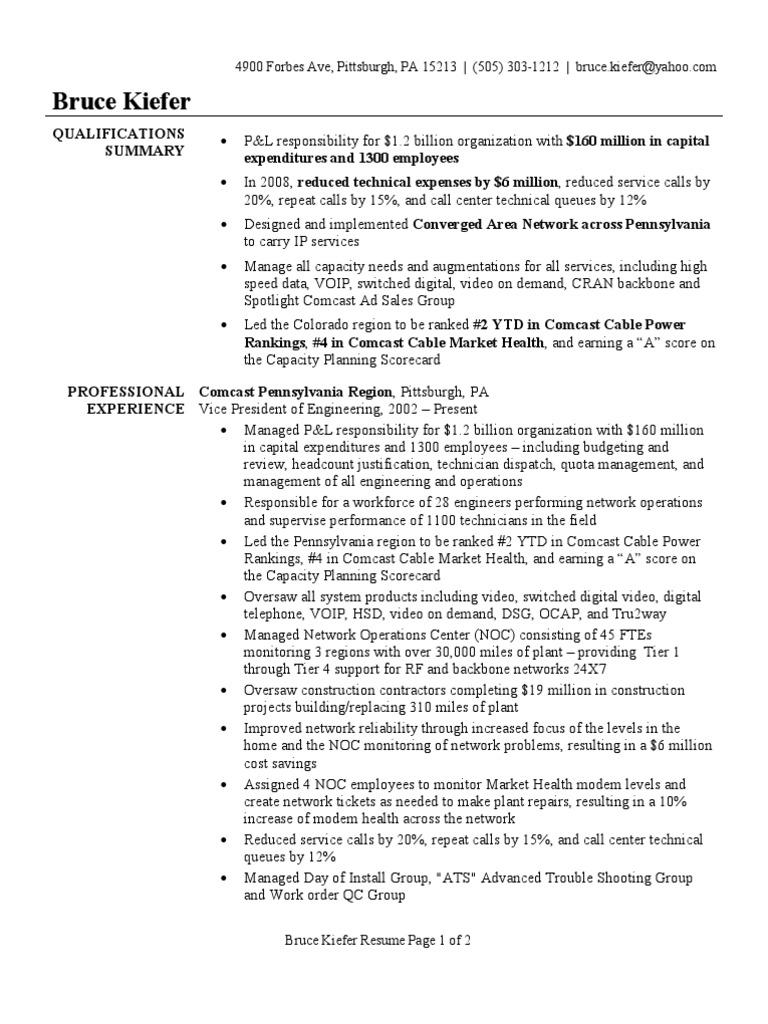 tech resume example