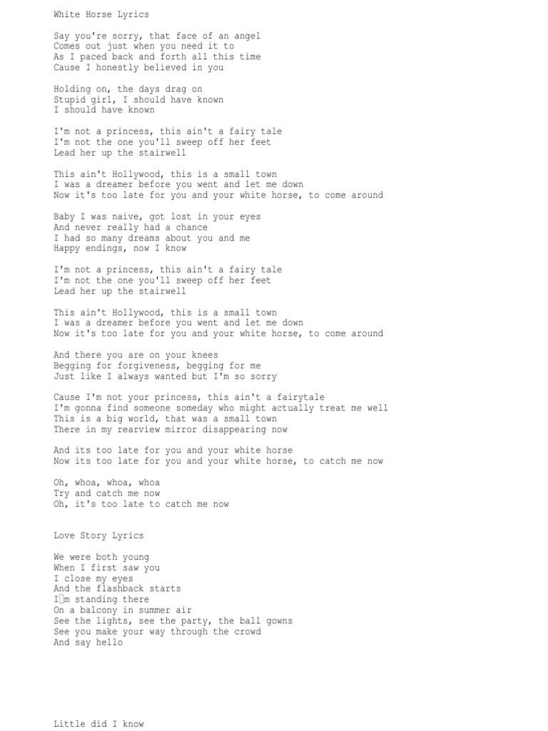 Lyrics2 Taylor Swift Song Recordings Produced