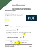 Aplicación de Ecuaciones Lineales