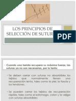 Los principios de selección de suturas