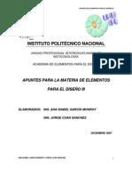 APUNTES ELEMENTOS PARA EL DISEÑO III
