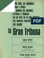 Ensayos literarios y críticos. La gran tribuna. Enero1966.