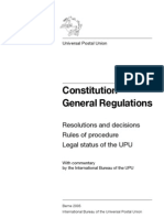 UPU Constitution and General Regulations