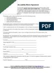 Media Liability Waiver Form
