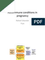 Autoimmune Conditions in Pregnancy