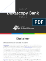 Review of Dukascopy Bank 2013