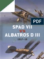 Spad VII Vs Albatros D III 1917-18 (Osprey Duel 36)
