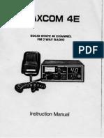 Maxcom 4E CB radio user instruction manual & circuit