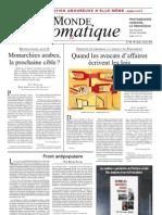 Le Monde Diplomatique Janvier 2013