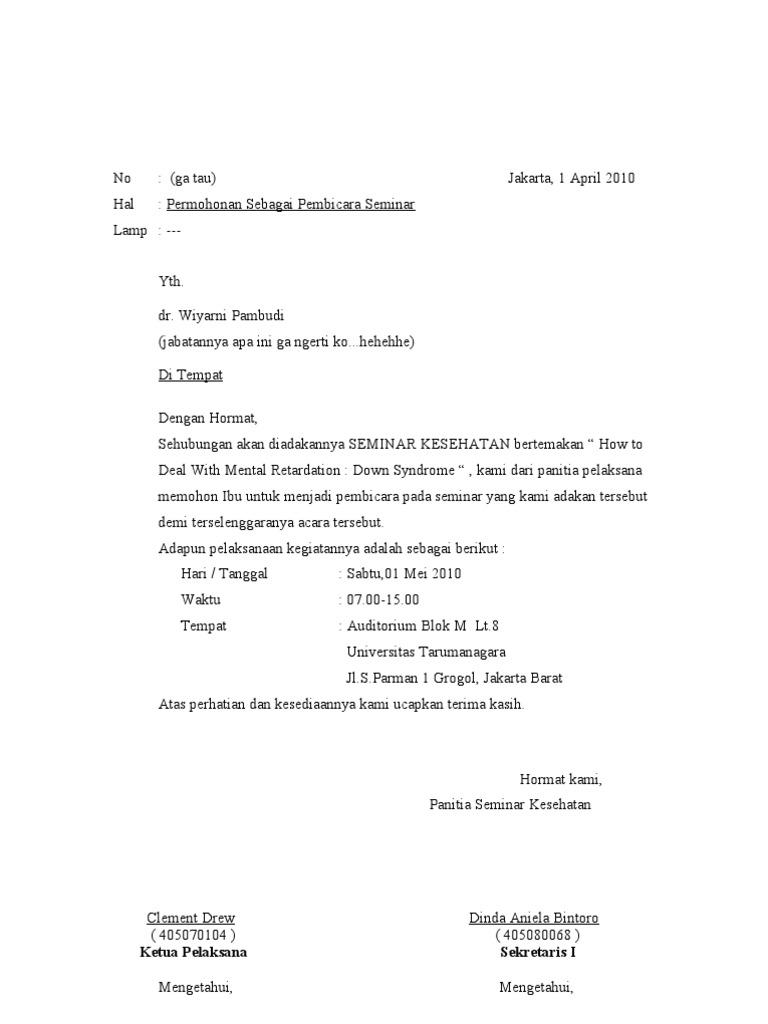 surat undangan pembicara