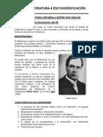 LA LITERATURA ESPAÑOLA ENTRE DOS SIGLOS
