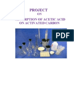 Project on adsorption of acetic acid