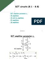 Analysis of BJT circuits