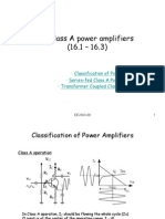 Class A power amplifiers