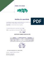 Medidas de Capacidade e de Volume