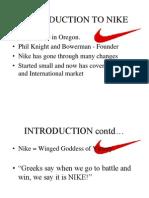 marketing of nike