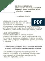 LOS JUEGOS SOCIALES (Version Definitiva Para Congreso 2009)