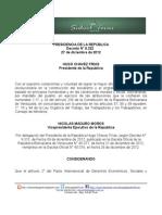Decreto 9322 Inamovilidad 2013