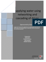 Supplying water using networking and cascading of drives